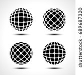 abstract globe design icon.... | Shutterstock .eps vector #689687320