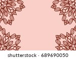 romantic greeting card with...   Shutterstock .eps vector #689690050
