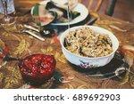 thanksgiving stuffing   Shutterstock . vector #689692903