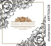 vintage delicate invitation... | Shutterstock .eps vector #689703628