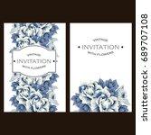 vintage delicate invitation... | Shutterstock . vector #689707108