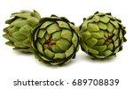 fresh artichoke isolated on... | Shutterstock . vector #689708839