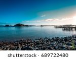 sunrise in new zealand paihia... | Shutterstock . vector #689722480