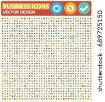 business icon set vector | Shutterstock .eps vector #689725150