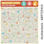 industry icon set vector | Shutterstock .eps vector #689725414