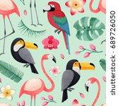 watercolor illustrations of... | Shutterstock . vector #689726050