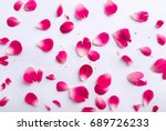 Stock photo pink rose petals 689726233