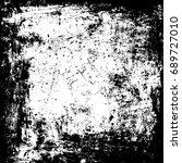black rough frame template.... | Shutterstock . vector #689727010