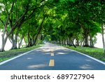 walkways and trees in the park... | Shutterstock . vector #689727904