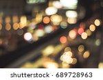 abstract blur traffic lights... | Shutterstock . vector #689728963