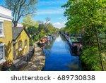 little venice  london  | Shutterstock . vector #689730838