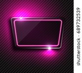 vector purple glowing glass... | Shutterstock .eps vector #689732539