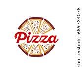 pizza logo | Shutterstock .eps vector #689734078