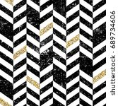 seamless chevron pattern with... | Shutterstock . vector #689734606