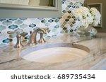 bathroom sink | Shutterstock . vector #689735434