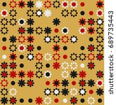 seamless floral pattern with... | Shutterstock .eps vector #689735443