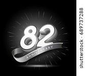 82 years silver anniversary... | Shutterstock .eps vector #689737288