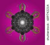 snowflakes pattern. flat design ...   Shutterstock . vector #689742214