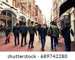 netherlands. amsterdam   june... | Shutterstock . vector #689742280