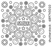 Smile. Coloring Page. Vector...