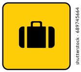 baggage sign yellow. vector. | Shutterstock .eps vector #689745664