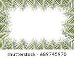 leaves of coconut tree on white ... | Shutterstock . vector #689745970