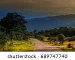 Climbing Road With Mountain An...
