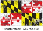 the flag of maryland | Shutterstock . vector #689756410