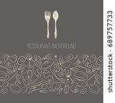 restaurant menu design | Shutterstock . vector #689757733