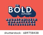 vector of bold modern font and... | Shutterstock .eps vector #689758438