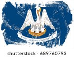 the flag of louisiana. the... | Shutterstock . vector #689760793