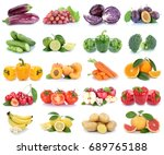 fruits and vegetables... | Shutterstock . vector #689765188
