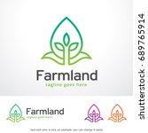 farmland logo template design... | Shutterstock .eps vector #689765914