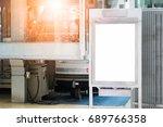 blank advertising billboard at... | Shutterstock . vector #689766358