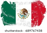 mexico flag grunge background.... | Shutterstock . vector #689767438