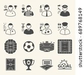 staff and people in soccer...   Shutterstock .eps vector #689768149