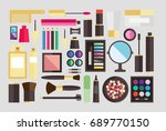 beauty cosmetic icons | Shutterstock .eps vector #689770150