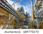 gold mine processing | Shutterstock . vector #689770273