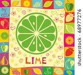 lime vector illustration. | Shutterstock .eps vector #68977276