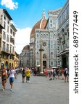 florence  italy   july  16 ... | Shutterstock . vector #689777449