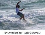 july 29  unidentified surfer in ...   Shutterstock . vector #689780980
