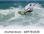 july 29  unidentified surfer in ...   Shutterstock . vector #689781838