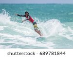 july 29  unidentified surfer in ... | Shutterstock . vector #689781844