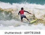 july 29  unidentified surfer in ...   Shutterstock . vector #689781868