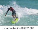 july 29  unidentified surfer in ...   Shutterstock . vector #689781880