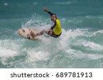 july 29  unidentified surfer in ... | Shutterstock . vector #689781913