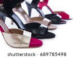 diversity of women shoes on a... | Shutterstock . vector #689785498
