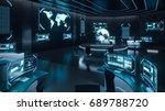 command center interior  3d... | Shutterstock . vector #689788720