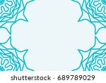 template for business card.... | Shutterstock .eps vector #689789029
