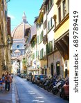 florence  italy   july  16 ...   Shutterstock . vector #689789419